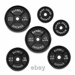 Cast Iron 2 Weight Plates Home Gym Weights Training Discs Bar Lifting