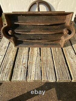 Cast Iron Book Press Binding Hand Wheel Binder 68 LBS! Top Deck 15 X 9 5/8