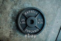 Cast Iron Olympic Weight Plates 245lb Set