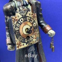 Cast Iron clock maker man doorstop Figure door stop 8.6 lb antique 1940 WWII ww2