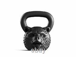 Cast Kettlebell Designer Iron Head Bear Weight 16 kg 35 lbs