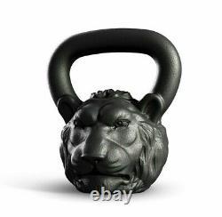 Cast Kettlebell Designer Iron Head Lion Weight 16 kg 35 lbs