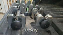Dumbbell Gold's Gym Spacesaver 25 Adjustable 5 to 25 lb Dumbell Set With Tray