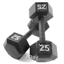 Dumbbell Set 150lb Rack Iron Weight Commercial Exercise Gym Fitness Equipment