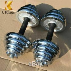 Dumbbells Set 22-110 Lbs Dumb Bell Circular Cast Iron 10kg Gym Weight