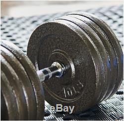Everyday Essentials Cast Iron Adjustable Dumbbell Weight Set, 200lbs total