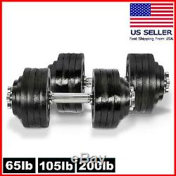 Fitness Maniac Dumbbell Set 40 To 200 Lbs Adjustable Weight Cast Iron Dumbbells