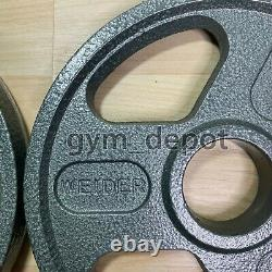 Four Weider Olympic Weight Plate 10lb 4 Plates 40lbs Total FREE SHIPPING