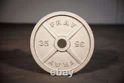 Fray Fitness 35lb in Pairs Olympic Barbell Weight Plates Cast Iron