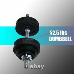 Full Metal 105lb Adjustable Dumbbells 2 x 52.5 lbs Black Plated Dumbbells