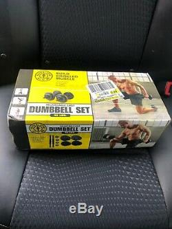 GOLDS GYM 40 lb Cast Iron Adjustable Dumbbell Weight Set 40 Pound New