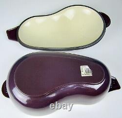 HUGE RARE 5 Quart LE CREUSET Purple Eggplant Cast Iron Vegetable Dutch Oven 14LB