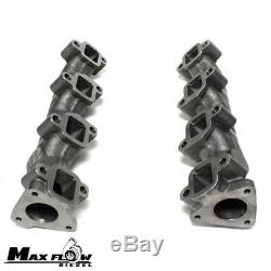 High Flow (Log Style) Exhaust Manifolds/Up Pipes for 2001-2004 LB7 FED Duramax