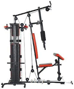 Home Gym System Multiple Purpose Workout Station with 380 lbs of Resistance