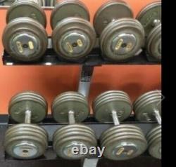 Ivanko 55 lb. 100 lb. Cast Iron Dumbbell Set With Rack