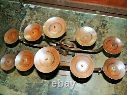 JAN BARBOGLIO IRON ART 30lb Hand Made Candle Holder Candelabra 5 Candle Altar
