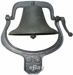 Large Farm Bell Farmhouse Dinner Vintage Cast Iron Church Garden Home Loud Bells