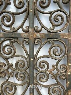 Large Heavy 60 LBS CAST IRON Ornate Furnace HEAT Grate Antique Window Vent #12