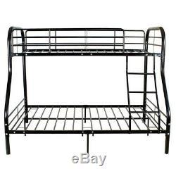 Metal Bunk Beds Frame 250lbs load Twin Over Full Size Ladder Kid Dorm Bedroom