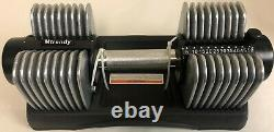 Mtrendy 5-50 lbs Adjustable Dumbbell Silver Single / Pair Weight Exercise New