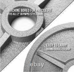 NEW 2 Full Olympic Cast Iron Weight Plate Set (245lbs) 5-7 WEEK ARRIVAL