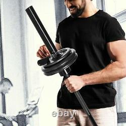 NEW! CAP 50lb Olympic Weight Set 4 x 10lb & 2 x 5lb Plates Cast Iron FREE SHIP