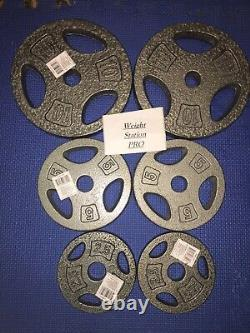 NEW CAP Barbell Pairs / SETS OF 10LB, 5LB, 2.5LB Weight Plates LOT 35lbs Total