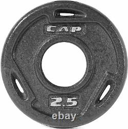 NEW CAP Cast Iron Olympic 2 Grip Weight Plates 2.5lbs Pair