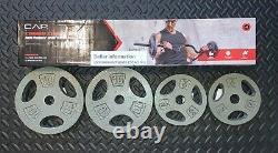 NEW CAP Combo EZ Curl Bar Metal Black w 30 lbs Standard 1 Weight Plates 10 5 lb