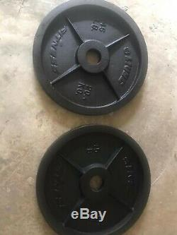 NEW Pair of Steel Olympic Weight Plates 45lb
