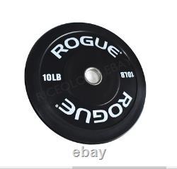 NEW Rogue Fitness Black Echo V2 Bumper Plates Pair of 10lb 20lb Total FAST SHIP