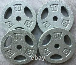 NEW Standard 1 Weight Plates CHOOSE PAIR 25 10 5 2.5LB CAP Cast Iron Grip