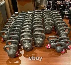 NEW Weider Cast Iron Kettlebell 10, 15, 20, 25, 30 & 35lb Single (Choose Weight)
