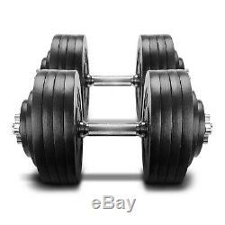 NEW Yes4All 200lb Adjustable Dumbbells Weight Set (100lb x 2) SHIPS FAST