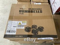 NEW Yes4All Adjustable Dumbbells 50 lb Dumbbell Weights (Pair)SHIPS FAST