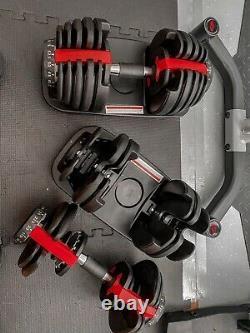 New 105 Lb Adjustable Dumbbells Like Bowflex 552 SelectTech, In Stock
