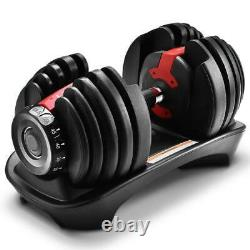 New 2pcs Weight Adjustable Dumbbells For Fitness Workouts Home Gym 52.5lbs
