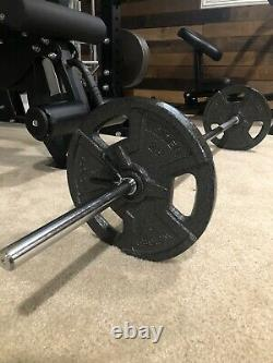 New 65 Lb Weight Plate Set With 60 Straight Bar Barbell, IN STOCK Fast Shipping
