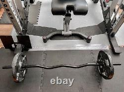 New EZ EASY standard Curl Bicep Bar Barbell With 50 Lb Weight Set. Free Shipping