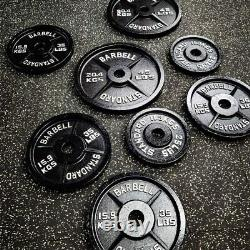 Olympic Barbell Plates Cast Iron Weightlifting Solid Weights Training Power New