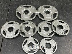 Olympic Weight Plate Set 45 lb Total Olympic Grip Plates FITNESS GEAR