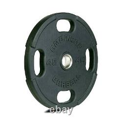 Olympic Weight Plates 10lb, 25lb, 35lb, 45lb Rubber Coated American Barbell
