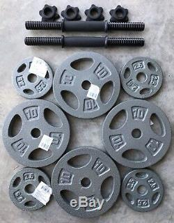 PAIR 25 Lbs Each 50 Lbs Total Adjustable Dumbbells Pound Weight Plates