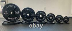 PAIR 2 Olympic Weights Iron Plates 45LB, 35LB, 25LB, 10LB, 5LB, 2.5LB BRAND NEW