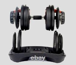 Pair (2) Adjustable dumbbells 5 52 Lbs USA SHIPPER Similar to Bowflex 552