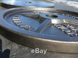 Pair of 45LBS Cast Iron Olympic Weight Plates- Barbell Standard-Used