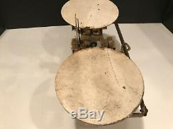 Penn Scale Phila PA Vintage old Cast Iron balance weight Scale up to 21 lbs