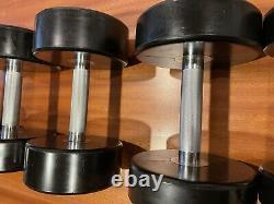 PolyUrethane Poly Urethane DUMBBELLS Weight 2.5-25 KG 5.5-55 LB Full Set Euro