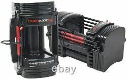 PowerBlock EXP Stage 1 5-50 lb Adjustable Dumbbell Set Pair