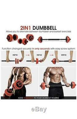 Premium 60lb Adjustable Dumbbells Weight Set with Connector & Sleeves YES4ALL